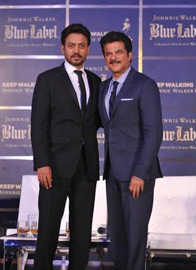 Anil And Irrfan Are Clicked During The Panel Discussion Of The Hollywood Film The Gentleman's Wager