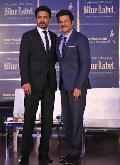 Anil and Irrfan Snapped Together At The Gentleman's Wager Screening