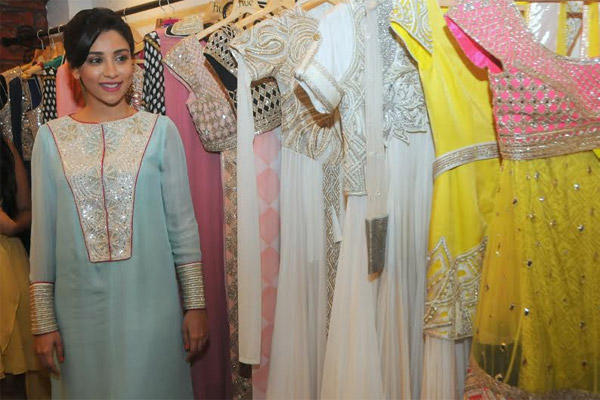 Amrita Attend Hue Winter Festive Collection Launch Event