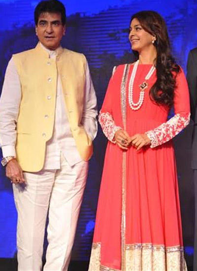 Jeetendra And Juhi Chawla At The Launch Of Hindi General Entertainment Channel Sony Pal