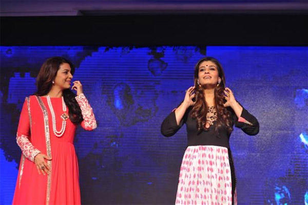 Raveena And Juhi As Brand Ambassador At Sony Pal Launch Event