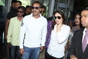 Kareena And Ajay At Bangalore For Singham Returns Promotional Event