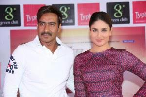Kareena And Ajay Looks Stunning During Photo Shoot At Promotional Event Of Singham Returns