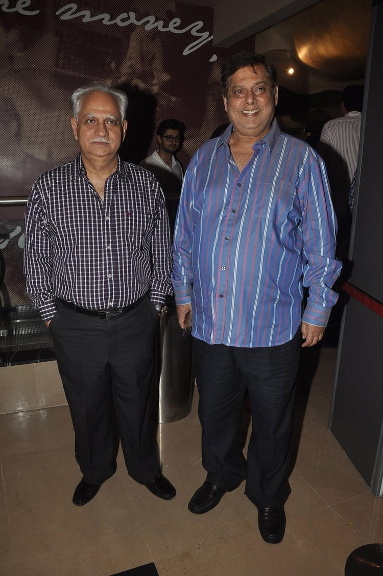 Ramesh And David At The Premiere Of 100 Foot Journey Hosted By Om Puri