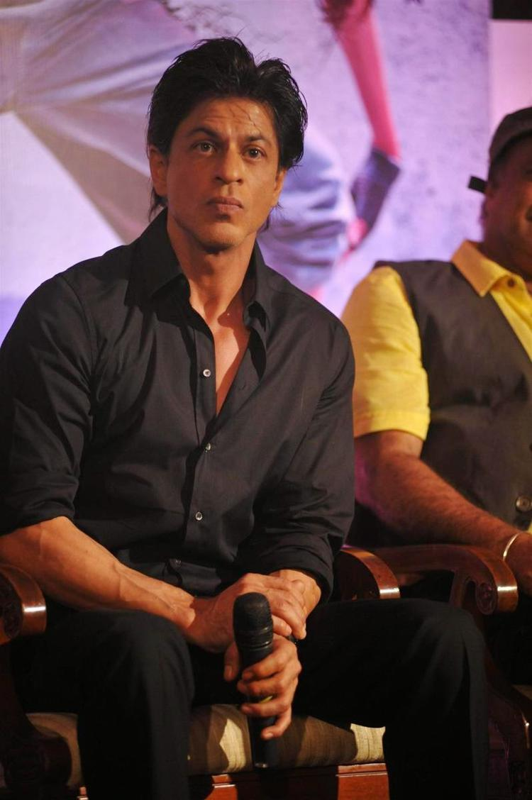SRK Interact With Media At The Launch Of App The Mad Wall Of Dreams