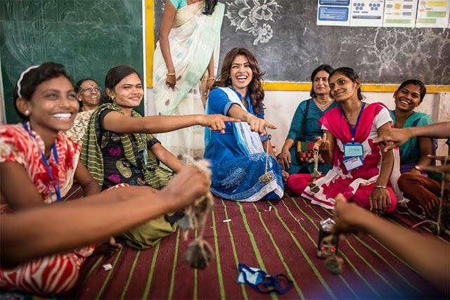 Bollywood Actress Priyanka Chopra Inspires Teenage Girls To Aim High With Unicef