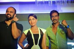 Ajay, Kareena And Rohit  Launch Police's Singham Returns Watch Range