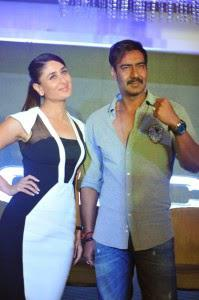 Kareena With Ajay Devgan At The Launch Of Special Edition Of Singham Range Of POLICE Watches