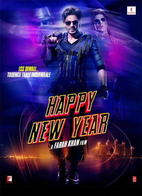 Megastar Shahrukh Happy New Year Movie Yummy Poster
