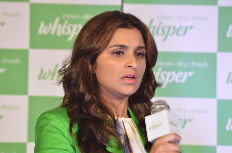 Parineeti Chopra Addresses The Media During The Launch Of New Whisper Campaign