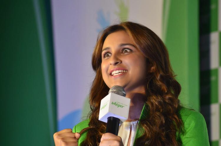 Parineeti Chopra At The Launch Of All New Whisper Campaign
