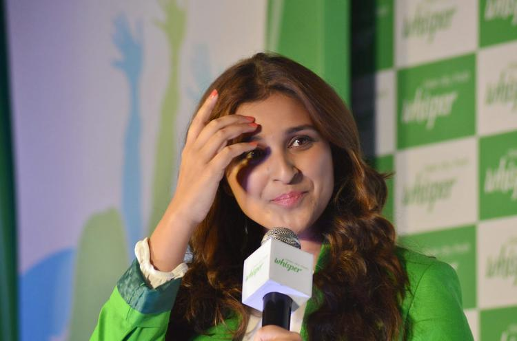 Parineeti Chopra Nice Look At The Launch Of All New Whisper Campaign
