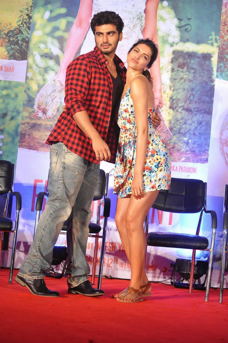 Arjun And Deepika Fun And Frolic At The Launch Of The Film Latest Song Fanny Re