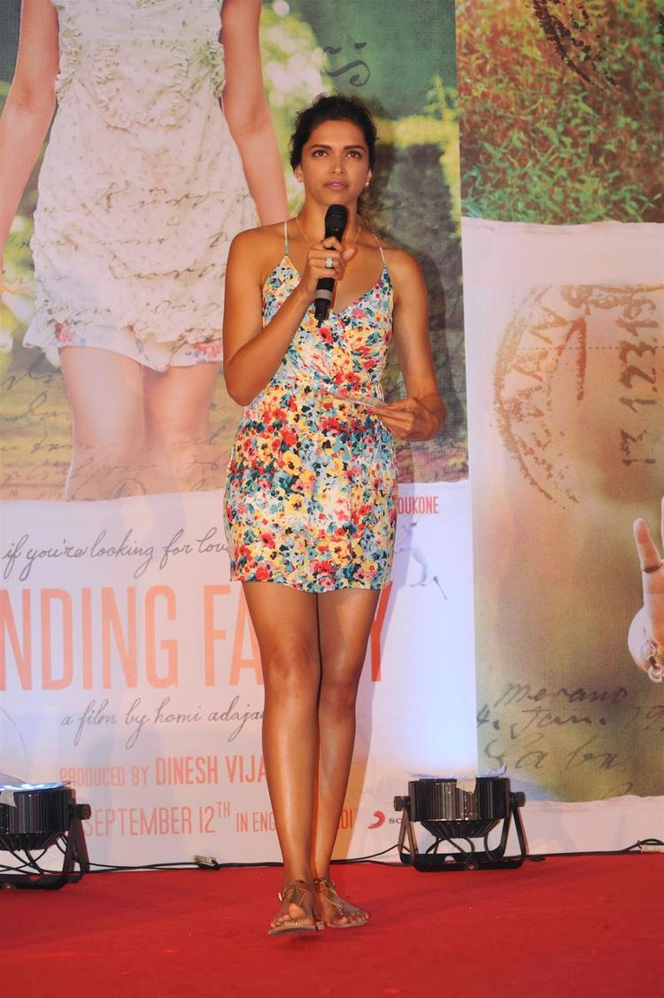 Deepika Padukone Interacts With Media During The Launch Of Finding Fanny Movie Fanny Re Song