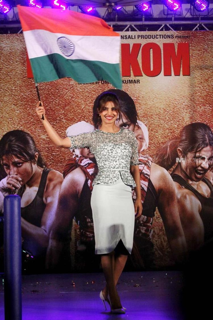 Priyanka Chopra Spotted At The Music Launch Of Movie Mary Kom