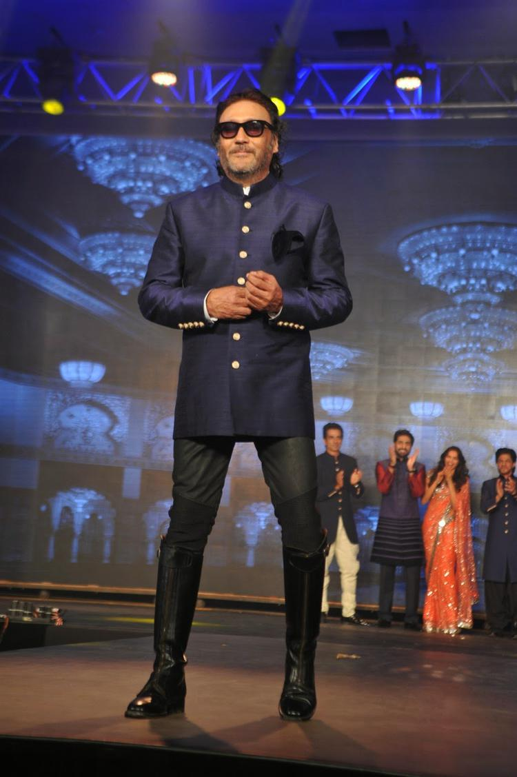 Jackie Shroff Dappers Look On Ramp During The Trailer Launch Of Happy New Year