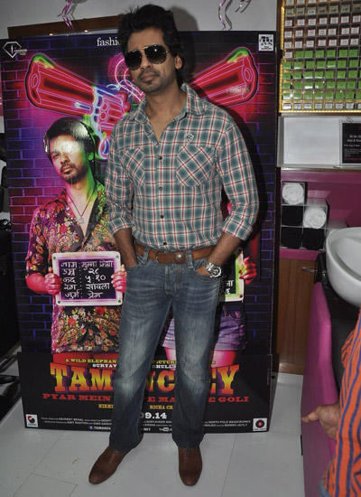 Nikhil Dwivedi Stylish Look During The Promotion Of Tamanchey In Malad