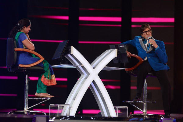 Amitabh Bachchan At The Game Show Kaun Banega Crorepati