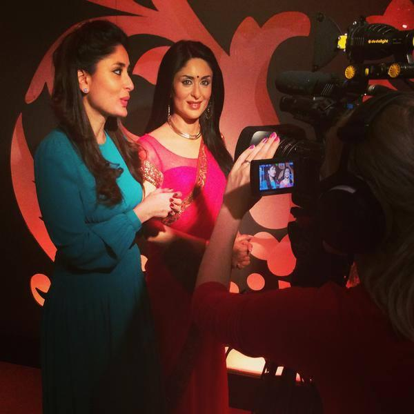Kareena Photographed By Fans Alongside Her Wax Figure