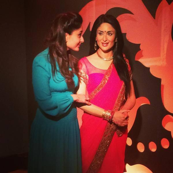 Kareena Visits Her Restyled Statue At Tussauds London