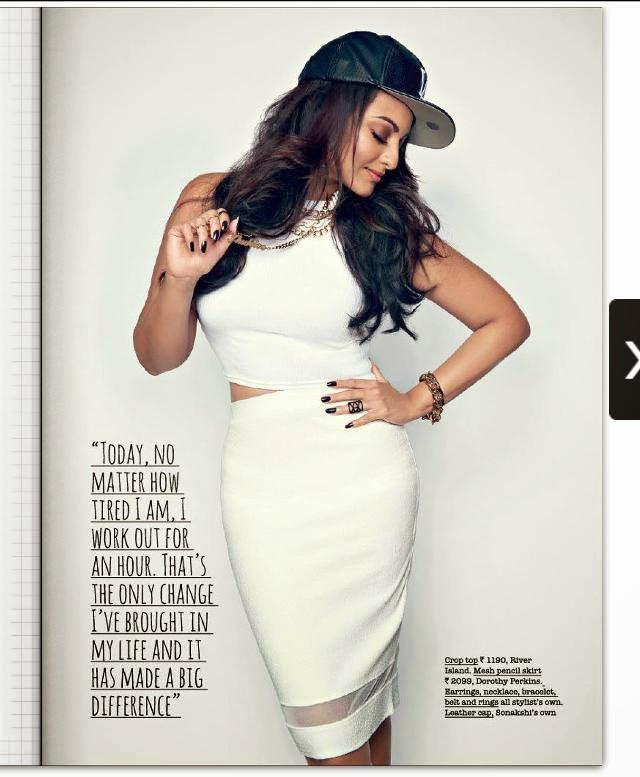 Sonakshi Sinha Glamour Pose Going Gangsta For The Juice Magazine For August Issue