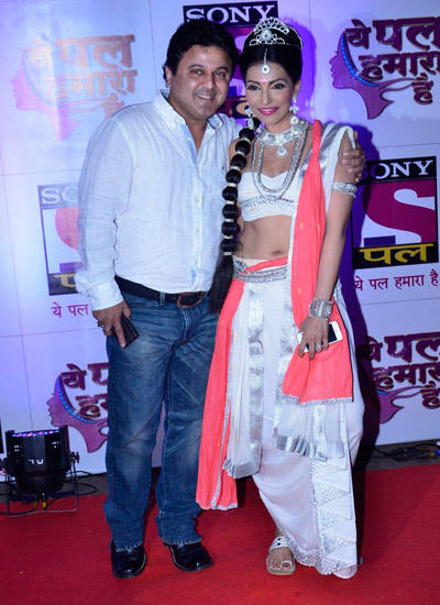 Ali Asgar Posed With Navina Bole In Red Carpet At Sony Pal Channel Launch Event