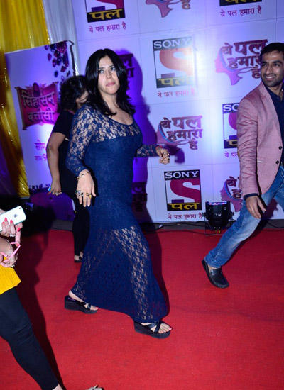 Ekta Kapoor Snapped In Red Carpet During The Launch Of Sony Pal Channel