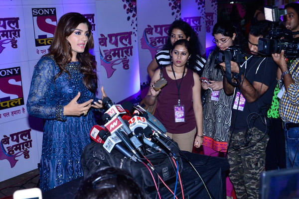 Raveena Tandon Addressing The Media At Sony Pal Channel Red Carpet Launch Event