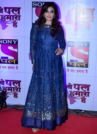 Raveena Tandon Poses For The Media At The Red Carpet Of Sony Pal Channel