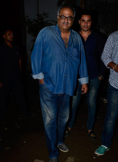 Boney Kapoor All Smiles For The Cameras At Sanjay Kapoor Tevar Movie Launch Event