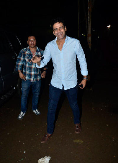 Manoj Bajpai Cool Pose During Sanjay Kapoor Tevar Movie Launch Event