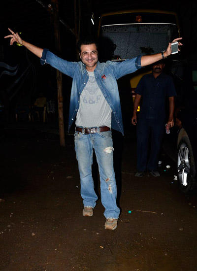 Sanjay Kapoor One Happy Man During The Launch Of His Movie Tevar
