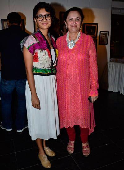 Kiran Rao And Kalpana Lajmi Clicked At The Exhibition Of Vintage Film Items