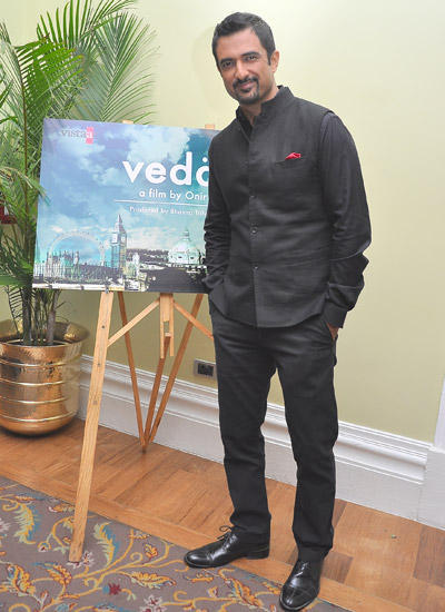 Sanjay Suri Posed For Camera During The Veda Movie Launch Event