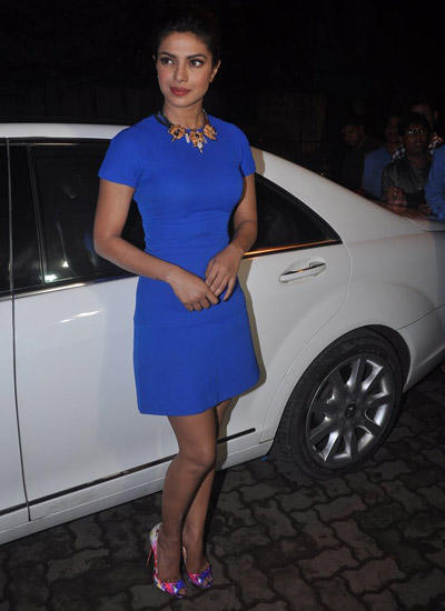 Priyanka Chopra Posed At Mary Kom Exclusive Footage Screening For Media