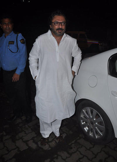 Sanjay Leela Bhansali Attend The Mary Kom Movie Screening For Media