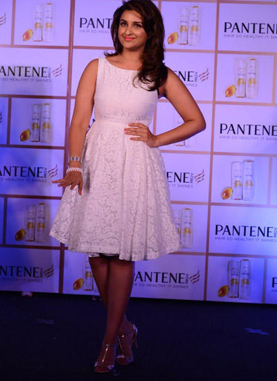 Parineeti Chopra During The Pantene Hair Shampoo Promotional Event