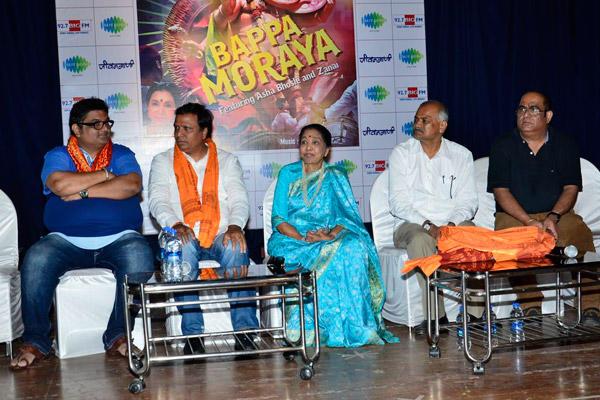 Asha Bhosle Present During The Album Launch Of Bappa Moraya At IMFAA