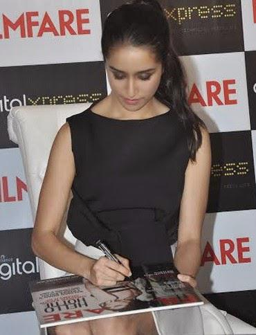 Shraddha Kapoor Signed Autograph During The Launch Of Filmfare Magazine Cover September Issue