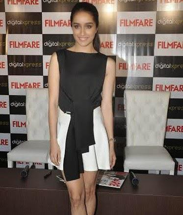 Shraddha Kapoor Stunning Hot Look During The Unveiling Of Filmfare Magazine September 2014 Cover Issue