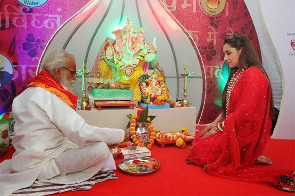 Rani Mukerji Celebrates Ganesh Chaturthi At Her Home