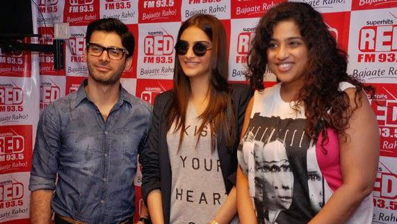 Fawad Afzal Khan And Sonam Kapoor At 93.5 Red FM For Promoting Their Upcoming Flick Khoobsurat
