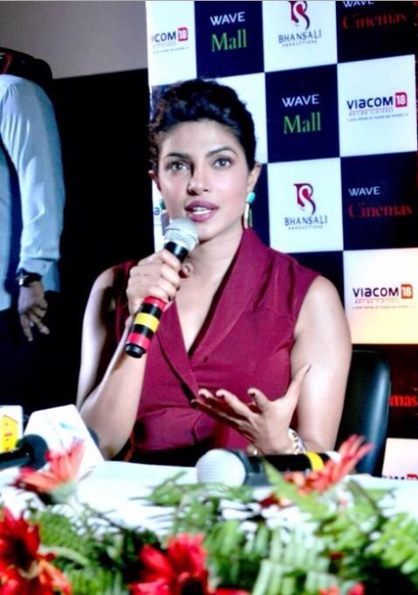 Priyanka Chopra Addresses The Media At The Press Conference Of Mary Kom Movie In Lucknow