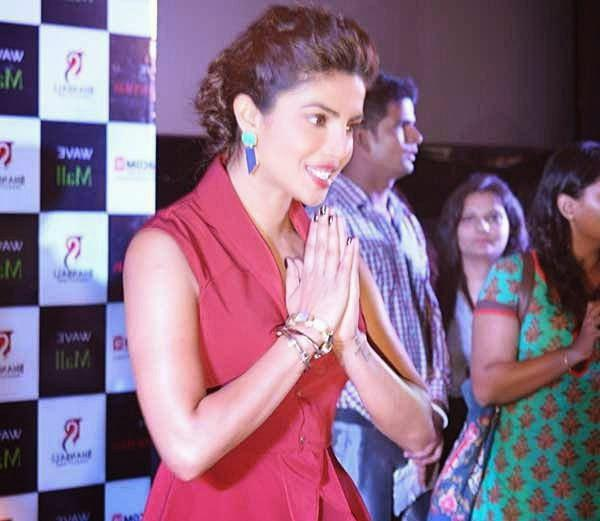Priyanka Chopra Greets The Fans During The Promotion Of Mary Kom In Lucknow At The Press Conference