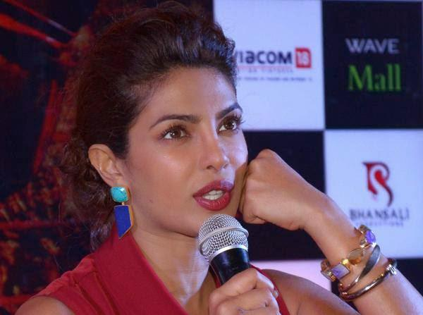 Priyanka Chopra Interacts With Media During The Press Conference Of Mary Kom Movie In Lucknow