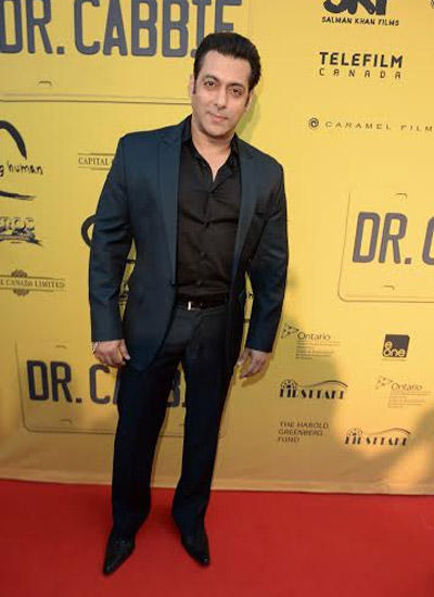 Salman Attended The Red Carpet Premiere Of The Forthcoming Canadian Venture Film Dr. Cabbie