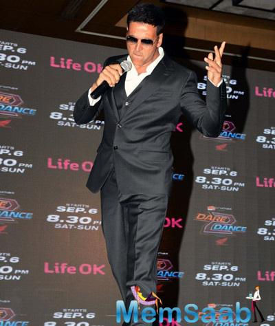 Bollywood Action Star Akshay Raps Live At Dare 2 Dance Launch