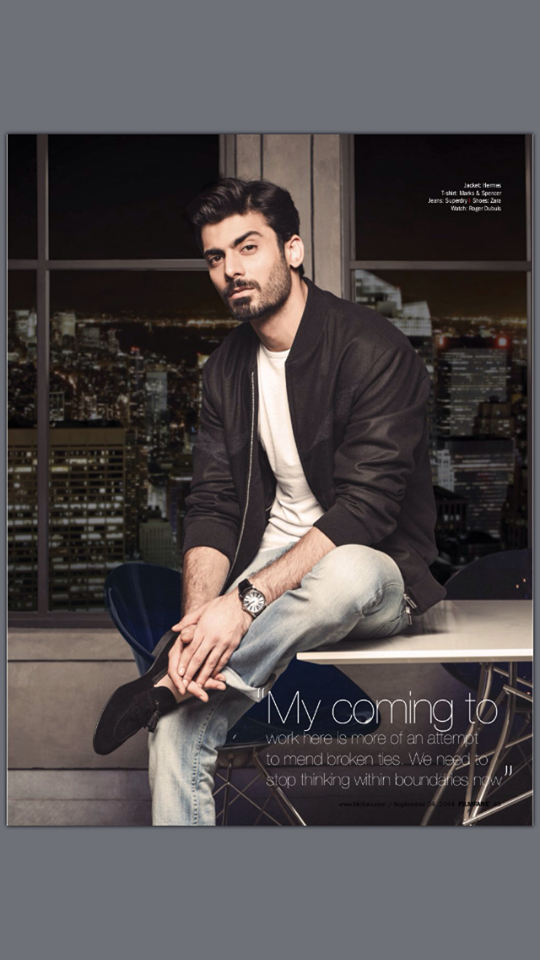 Fawad Khan Looking Very Handsome On The Cover Of Filmfare Magazine Sept Issue