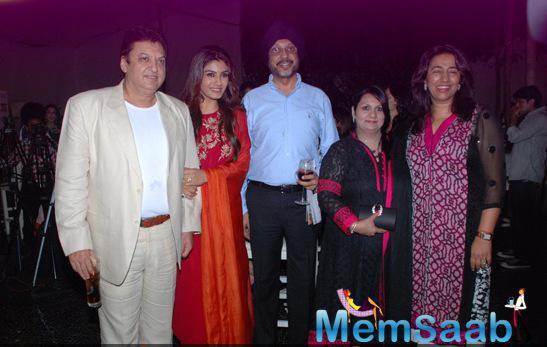 Sashi Ranjan,Raveena Tandon And Anu Ranjan Clicked During Sundown Party Of Sony Pal Channel