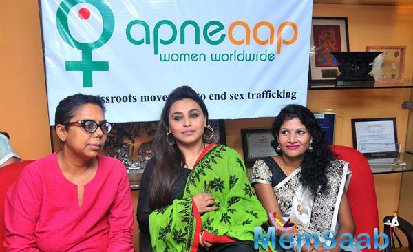 Bollywood Star Rani Mukerji Visit's Apne Aap Campaign